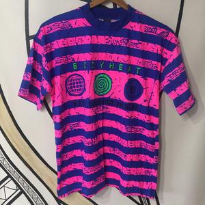 【90s】BODY HEAT ヴィンテージ ネオンカラー Tシャツ