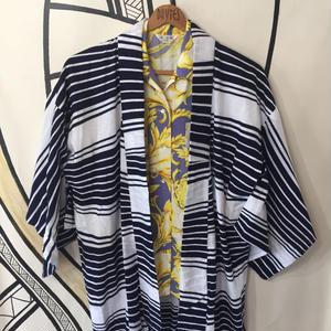 【YUKATA】ヴィンテージ ボーダー 浴衣 ロングガウン