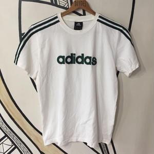【スポーツMIX】adidas 3ライン デカロゴ ホワイト Tシャツ