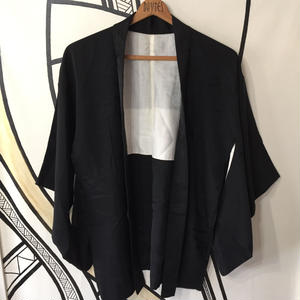 【KIMONO】ヴィンテージ ブラック 着物羽織ガウン