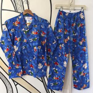 【激レア】90s 忍空 デットストック 日本製 パジャマ セットアップ