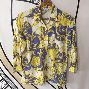 【奇抜】バブリー ヴィンテージ スカーフ 柄シャツ