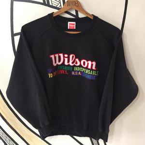 【スポーツMIX】日本製Wilson ブラックスウェット