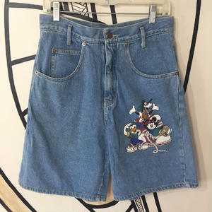 【個性的】90s ディズニー プリント ヴィンテージ デニム ハーフパンツ
