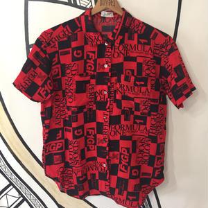 【個性的】ヴィンテージ F1 メーター デザイン 柄シャツ