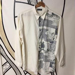 【BIG】ヴィンテージ レトロ デザイン 柄シャツ