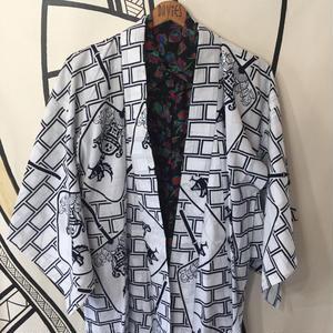 【YUKATA】ヴィンテージ 神輿 デザイン 浴衣 ロングガウン