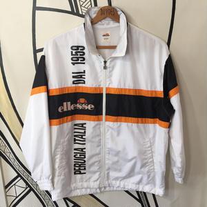 【90s】ellesse ヴィンテージ ホワイト日本製 ジャケット