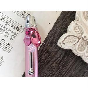 〈PINK!ピンク!ぴんく!〉スワロフスキービジューボールペン