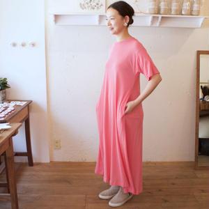ALWEL(オルウェル) | T-SHIRTS DRESS/ カラー:ピンク/サイズ:[S] [M]