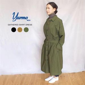 [YARMO(ヤーモ) ]  Shirt Dress コットンシャツドレス(ワンピース)