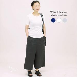 【定番】Vlas Blomme(ヴラスブラム)  & Twelve Linen フライス 半袖Tシャツ