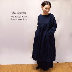 Vlas Blomme(ヴラスブラム)  KL Heritage Warm タックギャザーワンピース 13217681