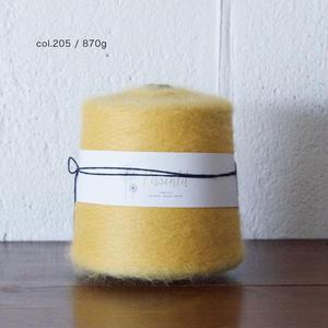 【半端糸SALE】  「Pissenlit(ピサンリ)」ミモザ870g - キッドモヘアウール 1/13番手 毛糸  のコピー
