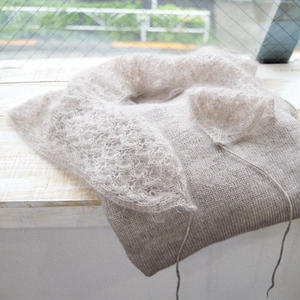 【全額を豪雨災害支援募金といたします】レース付け襟 『Gentillesse(ジョンティエス)』 日本語編み図