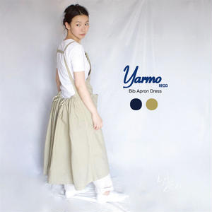 [YARMO(ヤーモ) ] Bib Apron Dress エプロンドレス:YAR-18SS-0P2