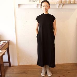 ALWEL(オルウェル) | SHORT SLEEVE SWING DRESS / カラー:ブラック /サイズ:[S] [M]