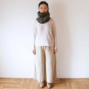 Vlas Blomme(ヴラスブラム)×GARMENT REPRODUCTION OF WORKERS コルトレイクリネン WIDE TUCK TROUSERS