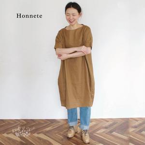 Honnete(オネット)アイリッシュリネン ボートネック ボックスチュニック