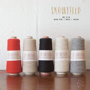 【受注販売】100gコーン「SNOWFIELD (スノーフィールド)」ブルーフォックス×ウール 紡毛糸  2/18番手