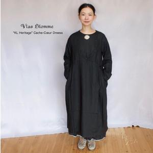 Vlas Blomme(ヴラスブラム)  KL Heritage 60  リネン ワンピースドレス(変形カシュクールワンピース)13216781