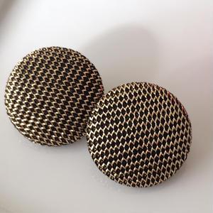 ゴールドファブリックのイヤリング〈フランス製1970年代デッドストック〉