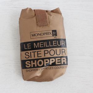 パリのスーパーMONOPRIX エコバッグ マットゴールド