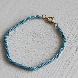 blue編み込みチェーンのブレスレット ヴィンテージ_251