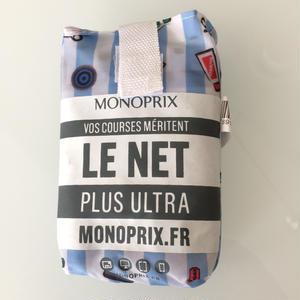 新柄 パリのスーパーMONOPRIX エコバッグ africaコラボ柄