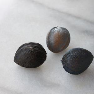 フランス現代ボタン 種のボタン 黒 一つ穴
