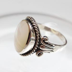 ロープモチーフ シェルの指輪 フランスヴィンテージリング