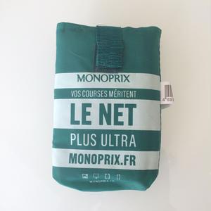 パリのスーパーMONOPRIX エコバッグ グリーン(ロゴ白)