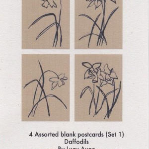 4 Addorted blank postcards (Set 1) / Lucy Auge