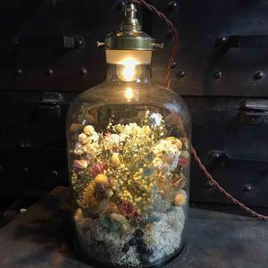 【限定一点】Lilaf flower bottle light(ボトルライト)大 mix
