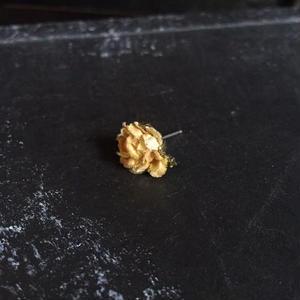 【限定一点】Lilaf 小花の片耳ピアス yellow