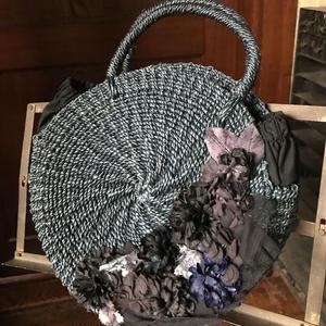 【限定一点】Lilaf カーネーションのまんまるバッグ black