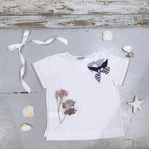 【Malvi & Co】リボンつきTシャツ
