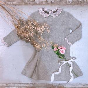 【crochette】ニットワンピース グレー