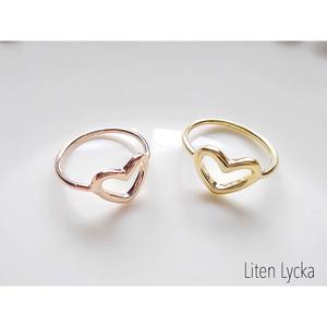 【全2色】heart ring