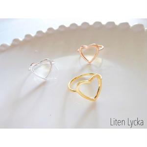 【全3色】heart ring