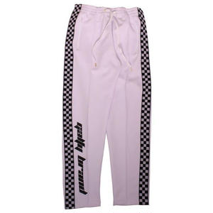 GALFY SIDELINE CHECKER TRUCK PANTS WHITE