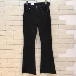 FLARE BLACK DENIM PANTS