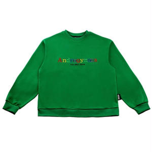 BASIC COTTON Androgynous SWEAT GREEN