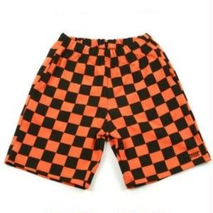 A PIECE OF CAKE GG TRAILER CHECKERBOARD 1/2 PANTS ORANGE