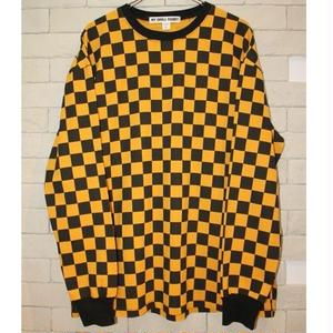 L/S CHECKERBOARD TEE ORANGE