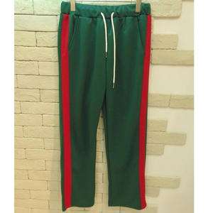 SIDE LINE TRAINING PANTS GREEN×RED