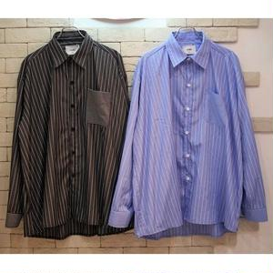 L/S OVERSIZED STRIPE SHIRTS