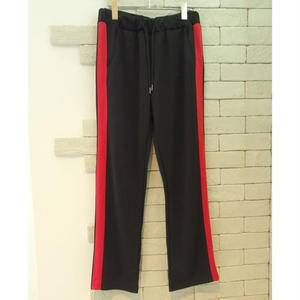 SIDE LINE TRAINING PANTS BLACK×RED