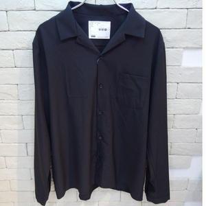 L/S  OPEN COLLAR SHIRTS BLACK