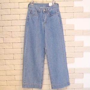 WIDE DENIM PANTS 1050 BLUE